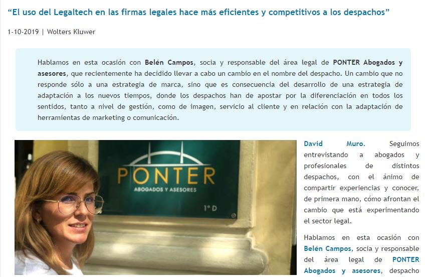 Entrevista a nuestra socia Belén Campos